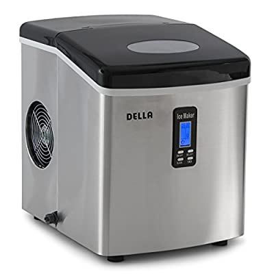 Della© Portable Ice Maker, Produces up to 26 lbs. of Ice Daily, 2-Size