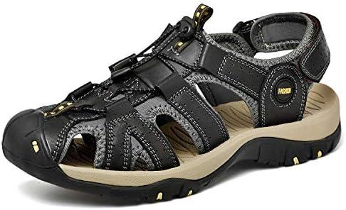 [スポンサー プロダクト][Dannto] スポーツサンダル アウトドアサンダル 革製 通気 耐久性 歩きやすい 防滑 防臭 吸汗 速乾 メンズ サンダル 水陸両用