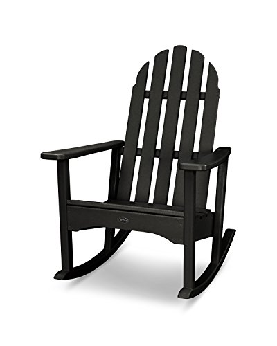 Trex Outdoor Furniture Cape Cod Adirondack Rocking Chair in Charcoal Black (Rocking Chairs Trex)