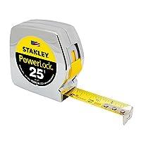 Stanley 33-425 Powerlock - Cinta métrica de 25 pies por 1 pulgada - Original