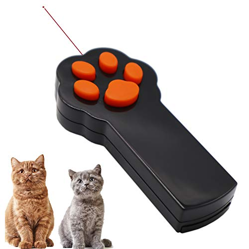 (Ruri's Laser Pointer for Cats Pet Cat Dog Laser Toys Catch The Interactive LED Light Pointer)