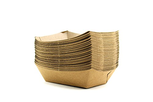 1 Cardboard (Adorox 50 Count Brown Disposable Cardboard Paper Food Tray, 1-Pound)