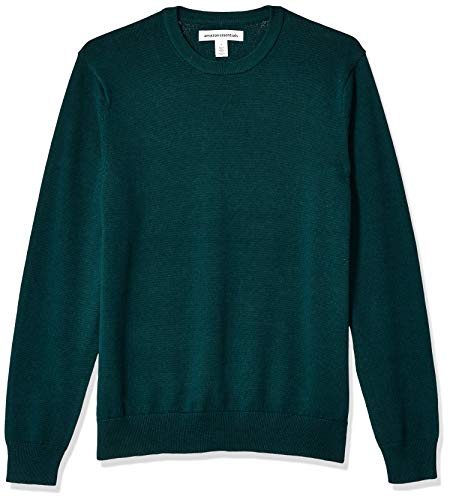 Amazon Essentials Men's Crewneck Sweater, Forest Green, X-Small