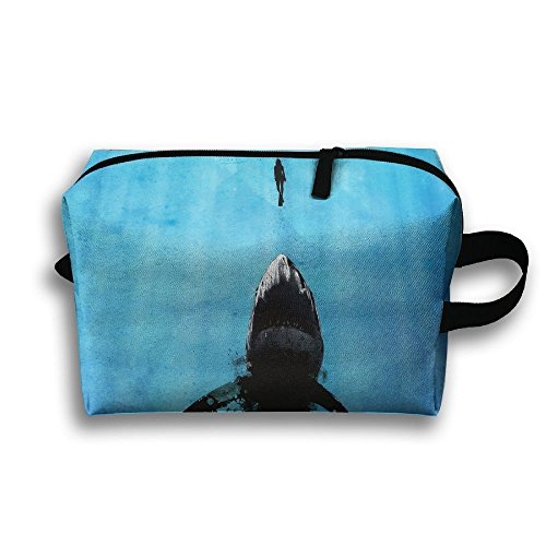 - Outwork Sports Bag Toiletry Shark Deep Great Diver Wash Makeup Bag Storage Toiletry Organizer Pencil Case Handbag Purse