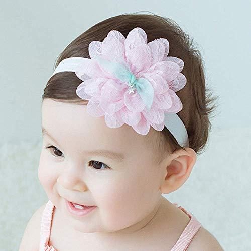 Wenbin Baby Girl Stretch Headband Handmade Fabric Head Flower lace Flower Headdress Baby Headband Princess Hair Band Headband Newborn Hair Accessories