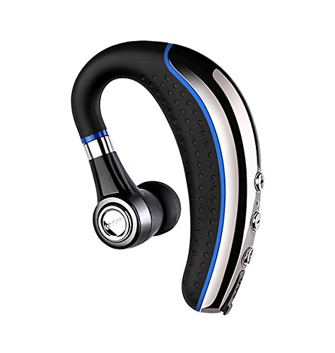 Bluetooth Headset,Ansin A8 Wireless Stereo Earphones V4.1 Bluetooth Headphones Lightweight Earpieces In-ear Earbuds with Microphone and Mute Key for iPhone and Android Smart Cellphone-Blue
