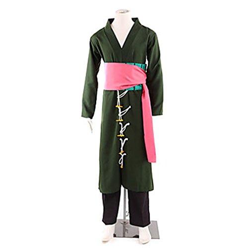 [Cuterole Anime One Piece Roronoa Zoro Cosplay Costume Full Set Custom] (Roronoa Zoro Costumes)
