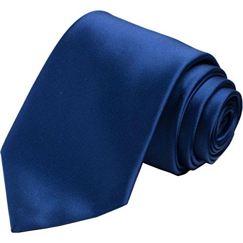 Navy Satin Tie KissTies Blue Ties Mens Necktie + Gift Box