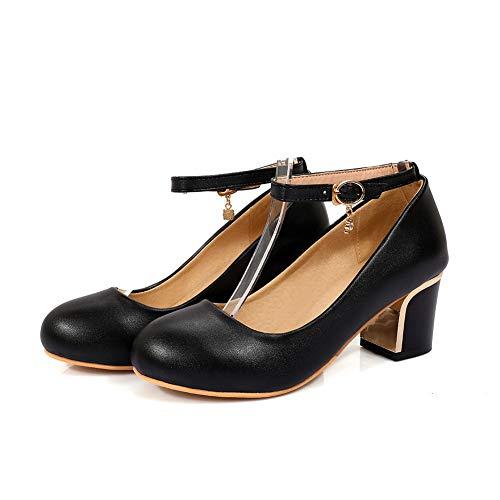 Femme Sandales AdeeSu SDC05619 Noir Compensées Cqwn1t6