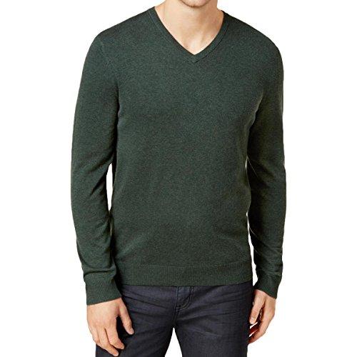 Alfani Mens Regular Fit V-Neck Pullover Sweater Green XXXL from Alfani