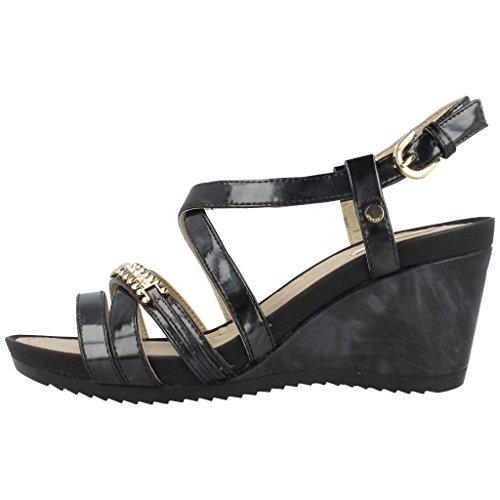 Sandalias y chanclas para mujer, color Negro , marca GEOX, modelo Sandalias Y Chanclas Para Mujer GEOX D NEW RORIE B Negro Negro