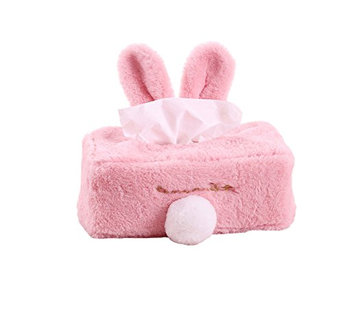seemehappy Cute Fluffy Bunny Tissue Box Cover Napkin Paper Holder