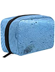 Toiletry Bag Low Tide Beach Womens Beauty Makeup Case Brush Cosmetic Organizer