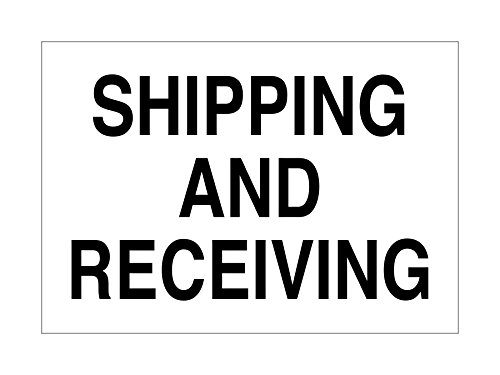 Imprint 360 AS-10013A Aluminum Workplace Shipping and Receiving Sign - 7'' x 10'', White / Black, PROUDLY Made in the USA, Printed with UV Ink for Durability and Fade Resistance by Imprint 360