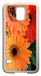 Blueberry Design Galaxy S5 Case Color Yellow Red and Orange Nice Flowers Case
