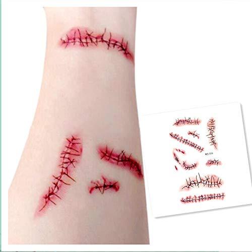 Ktyssp Halloween Horror Bloody Scar Tattoo Nail Body Art Good Quality HOT -