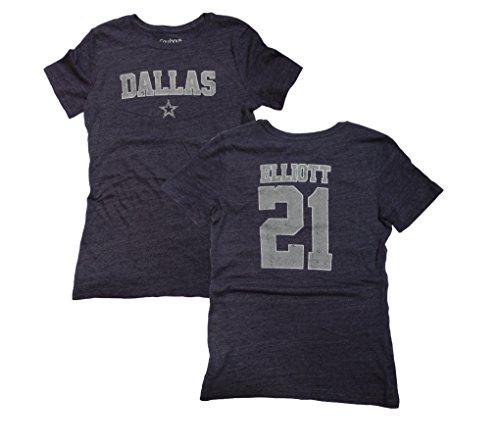 2388c44a884 Ezekiel Elliott Dallas Cowboys Womens Navy Worn Jersey Name and Number T- shirt Medium