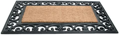 Imports Decor Rubber Back Coir Doormat, Country Gate, 18-Inch by 30-Inch
