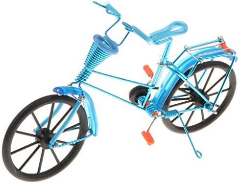 1:10スケール バイクモデル バスケット付き 手芸 玩具 アルミ製 自転車模型 8色 - ライトブルー