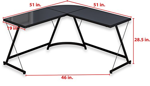 SHW L-Shaped Home Office Corner Desk by SHW (Image #2)