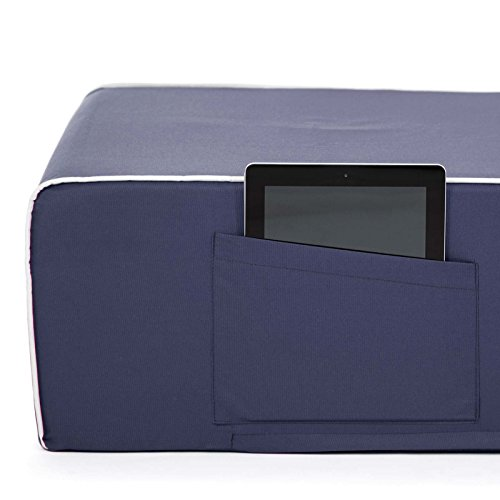 PopLounge Expandable Foam Furniture Coast Lounger, Crown Blue Navy, 23'' x 40'' x 26'' by PopLounge (Image #9)