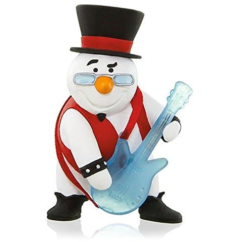 Hallmark QGO1017 Rock and Roll All Nite Snowman with Guitar Ornament (Hallmark Musical Snowman)