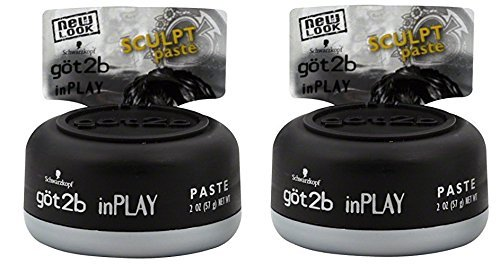 Got2b Schwarzkopf Inplay Sculpt Hair Paste, 2.0 Ounce (Pack of 2)