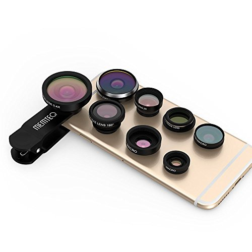 New MEMTEQ 8in1 Clip-On Fisheye+Wide Angle+Macro Camera Lens for iPhone 6 6S - Near Me Lens Store