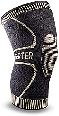172880d80b Berter Knee Support for Men & Women, Copper Ion Non-Slip Knee Compression  Brace Sleeve for Running, Basketball, Hiking, Cycling, Volleyball, Gym, ...