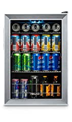 Keep all your favorite beverages perfectly chilled and ready to serve in the New Air 90 Can Compact Beverage Fridge. This powerful little fridge chills beer and soda all the way down to 34 degrees making it one of the coldest fridges on the m...