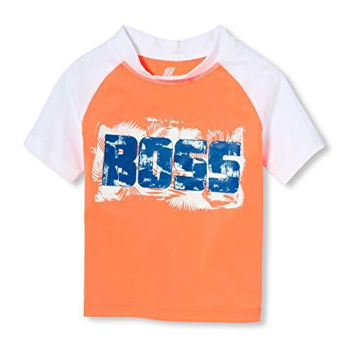 - The Children's Place Big Boys' Graphic Short Sleeve Rash Guard, neon Phoenix, 5T