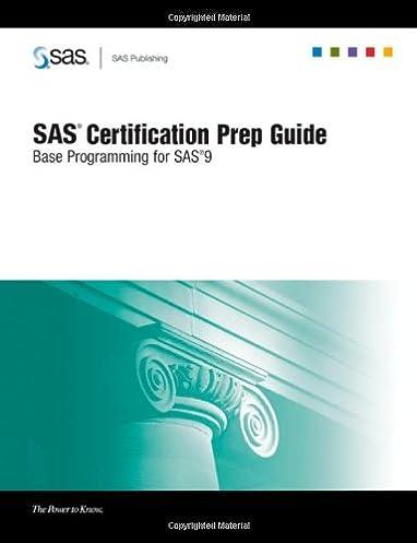 sas certification prep guide base programming for sas 9 sas rh amazon com SAS Certified Base Programmer SAS Certification Prep Guide Ebook