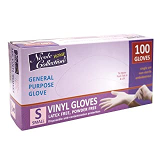 Nicole Home Collection 05024 Vinyl Gloves, Small, White (Pack of 100) (B00Z9UY1IS) | Amazon price tracker / tracking, Amazon price history charts, Amazon price watches, Amazon price drop alerts