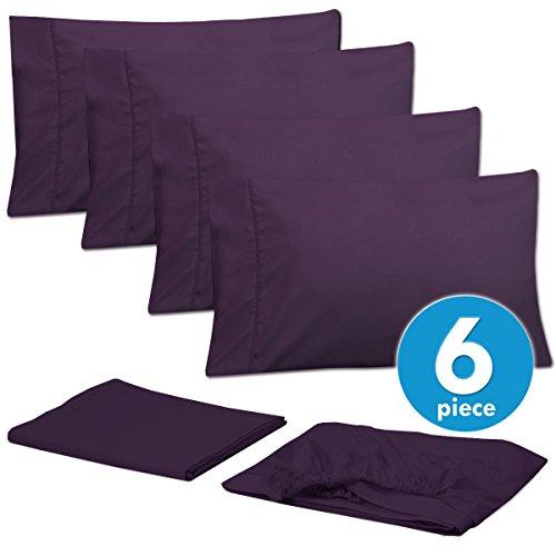 6 Piece 1500 Thread Count  Deep Pocket Bed Sheet Set - 2