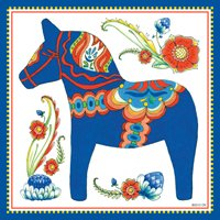 - Essence of Europe Gifts E.H.G Wall Tile Design Swedish Blue Dala Horse [Kitchen]