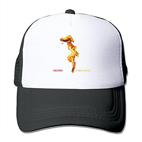 Black Chris Brown X New Flame Usher Rick Ross Cool Hat Sports (Usher Hat)