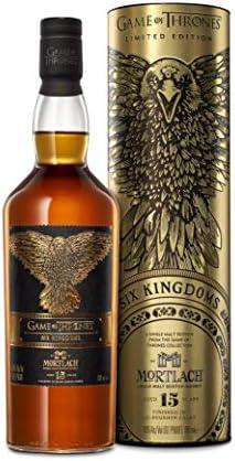 Mortlach 15 - Whisky escocés puro de malta, Edición Limitada Juego De Tronos: Seis Reinos, 700 ml