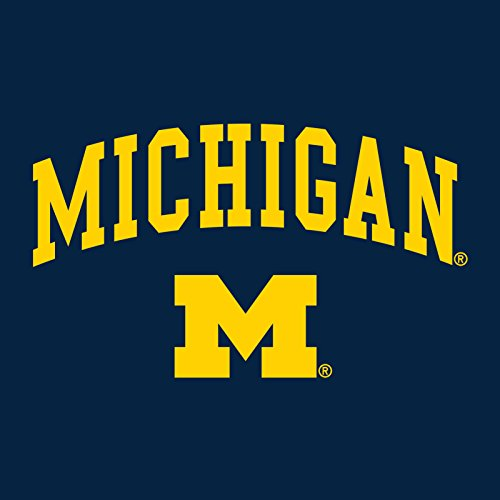 YC03 - Michigan Wolverines Arch Logo Creeper Infant Creeper Bodysuit - 12 Month - Navy by UGP Campus Apparel (Image #1)