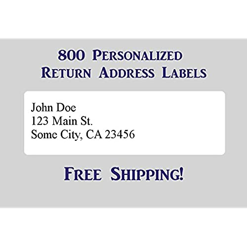 800 printed personalized return address labels self adhesive 1 2 x