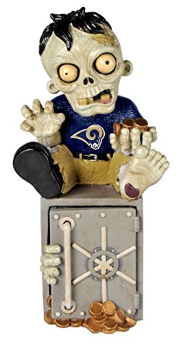 FOCO NFL St. Louis Rams Resin Zombie Bank, Blue