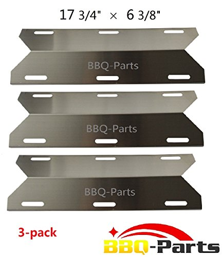 Hongso SPA231 (3-pack) Stainless Steel BBQ Gas Grill Heat Plate, Heat Shield, Heat Tent, Burner Cover, Vaporizor Bar, and Flavorizer Bar for Costco Kirland, Glen Canyon, Jenn-air, Nexgrill, Sterling Forge, Lowes (17 3/4