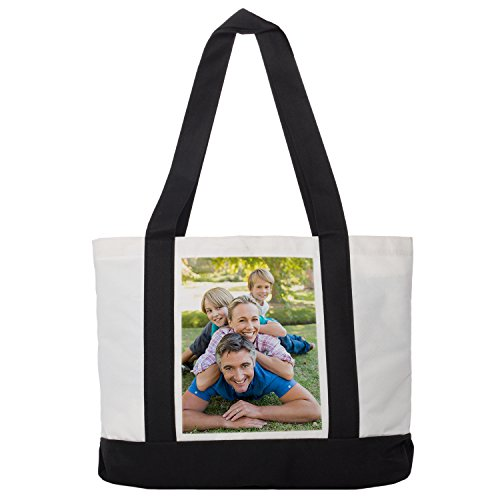 RitzPix Customizable Cotton Canvas Tote Bag - Perfect Personalized Gift with Custom Image or Text (Custom Tote compare prices)