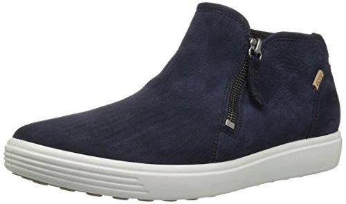 Sky Leather Footwear (ECCO Women's Women's Soft 7 Low Cut Zip Sneaker, Night Sky, 37 M EU (6-6.5 US))