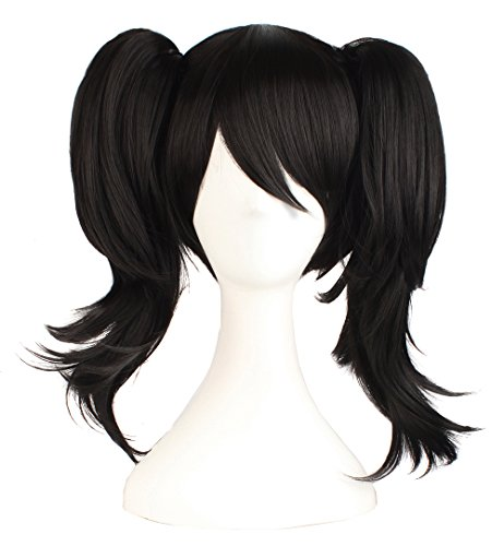 MapofBeauty Black Can Be Equipped with Double Ponytail Hair Accessories Cosplay Wigs]()