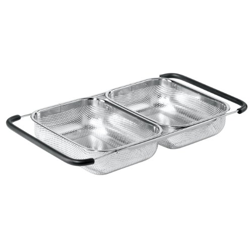 Oggi Over-The-Sink Stainless Steel Double Basket Strainer