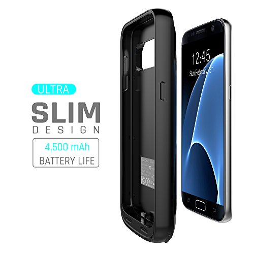 Samsung Galaxy S7 Battery Case: Stalion Stamina 4500mAh Rechargeable Power Bank Case