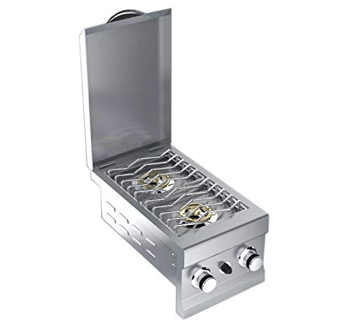 Sunstone Slide-in Natural Gas Double Side Burner - 2CSB-NG by Sunstone Grills