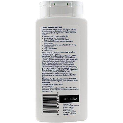 CeraVe Hydrating Body Wash, 10 Fluid Ounce