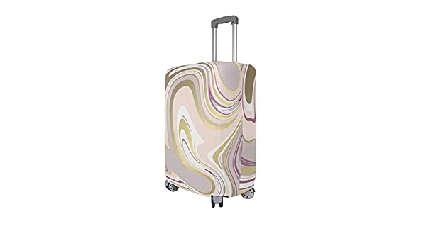 Blue-Blue Marble Pattern Traveler Lightweight Rotating Luggage Cover Can Carry With You Can Expand Travel Bag Trolley Rolling Luggage Cover