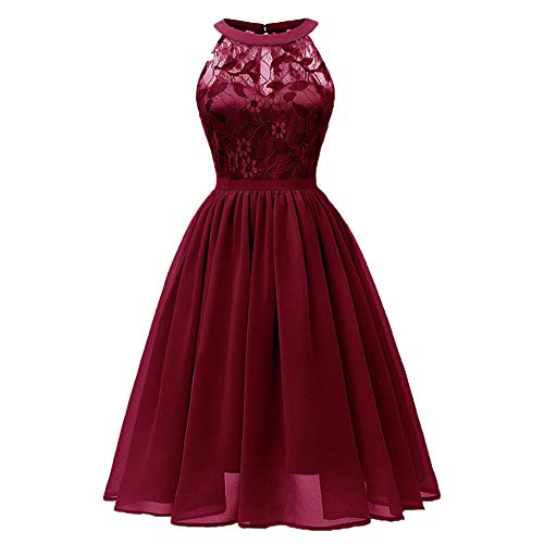 - RCTO Summer Party Dress Women Clothes 2019 Elegant Lace Patchwork Sleeveless Ladies Lace Dresses Vintage Dress Red